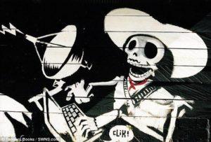 obra de banksy en chiapas méxico