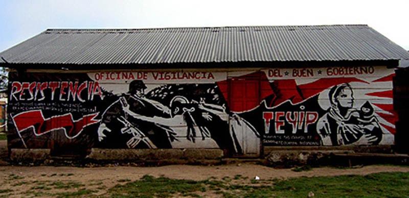 mural de banksy en chiapas