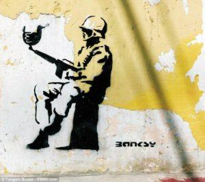 graffiti de banksy en chiapas méxico
