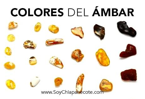 Colores del ámbar de Chiapas