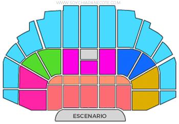 Mapa Polyforum de boletos para Grandiosas en Tuxtla