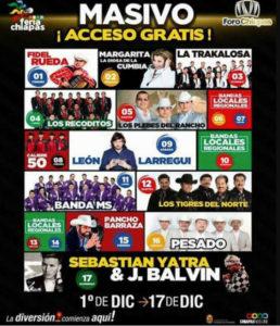 Cartelera Falsa Feria Chiapas 2017
