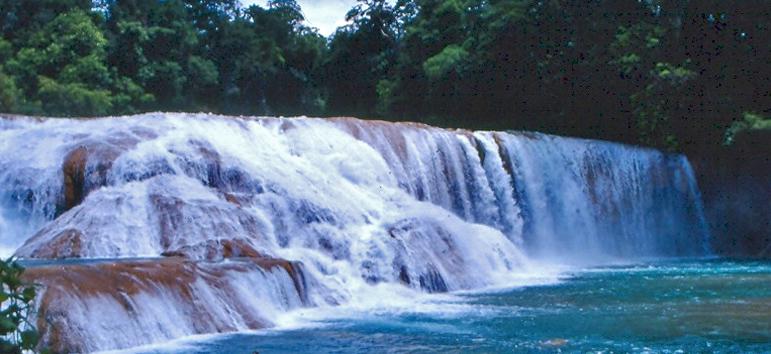 Cascadas en Chiapas de Agua Azul