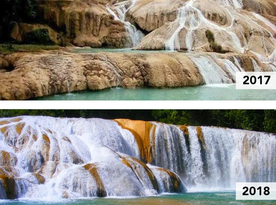 Sequía en Cascadas en Chiapas