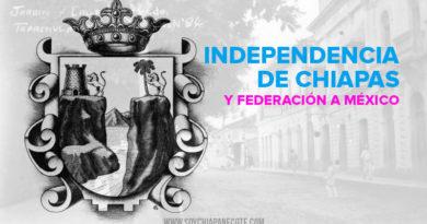 independencia de chiapas y federacion de México