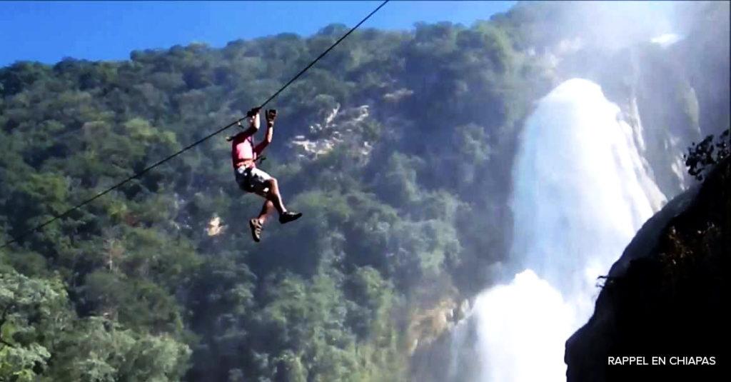 Rappel y turismo de aventura en Chiapas