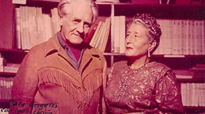 Frans Blom y Gertrude Blom