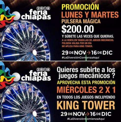 Promociones en la Feria Chiapas