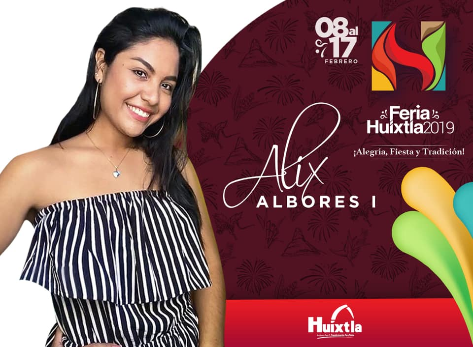 Alix Reina de Feria de Huixtla 2019