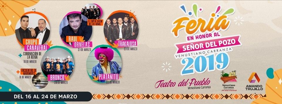 Feria de Venustiano Carranza Chiapas 2019 - Cartelera