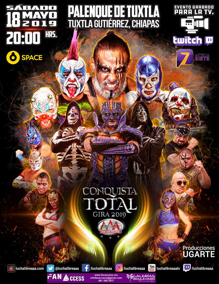 Lucha Libre AAA en Chiapas
