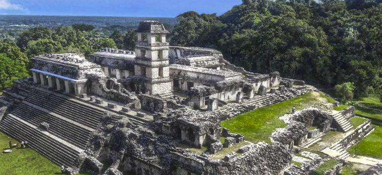 Zona Arqueologica de Palenque en Chiapas