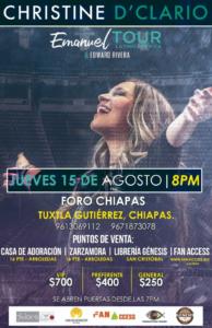 Christine D´Clario en Tuxtla, Chiapas