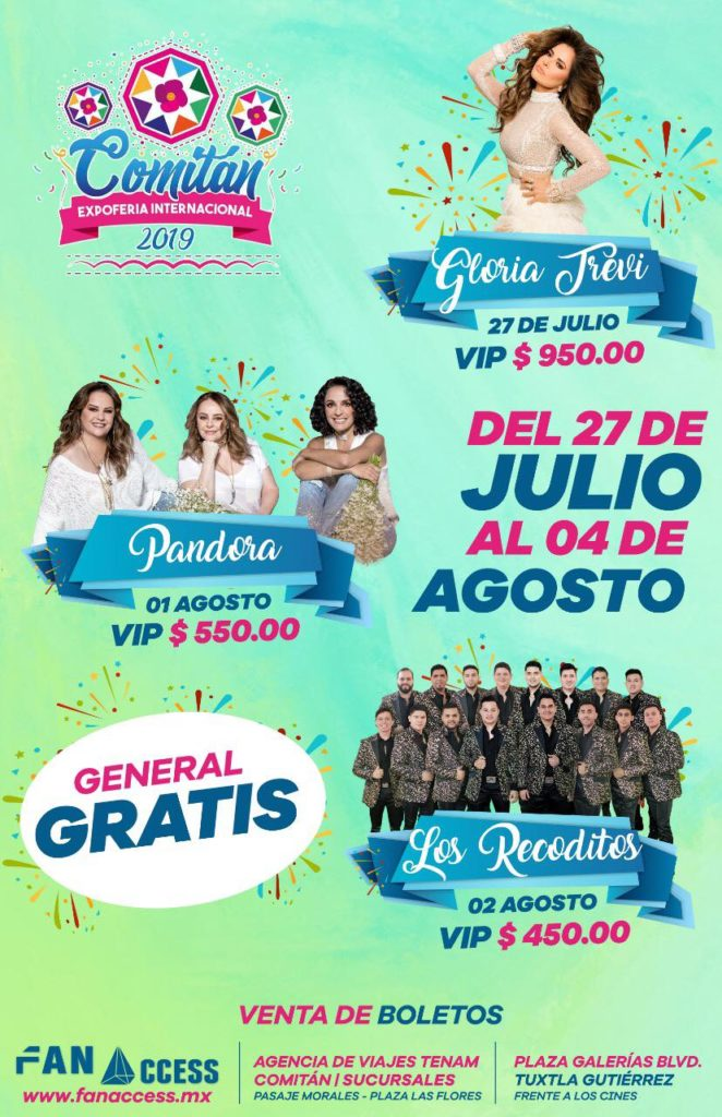 Cartelera de Expo Feria Comitan 2019
