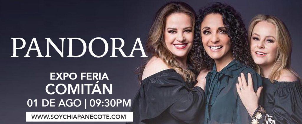 Pandora en Expo Feria Comitán 2019 - Cartelera