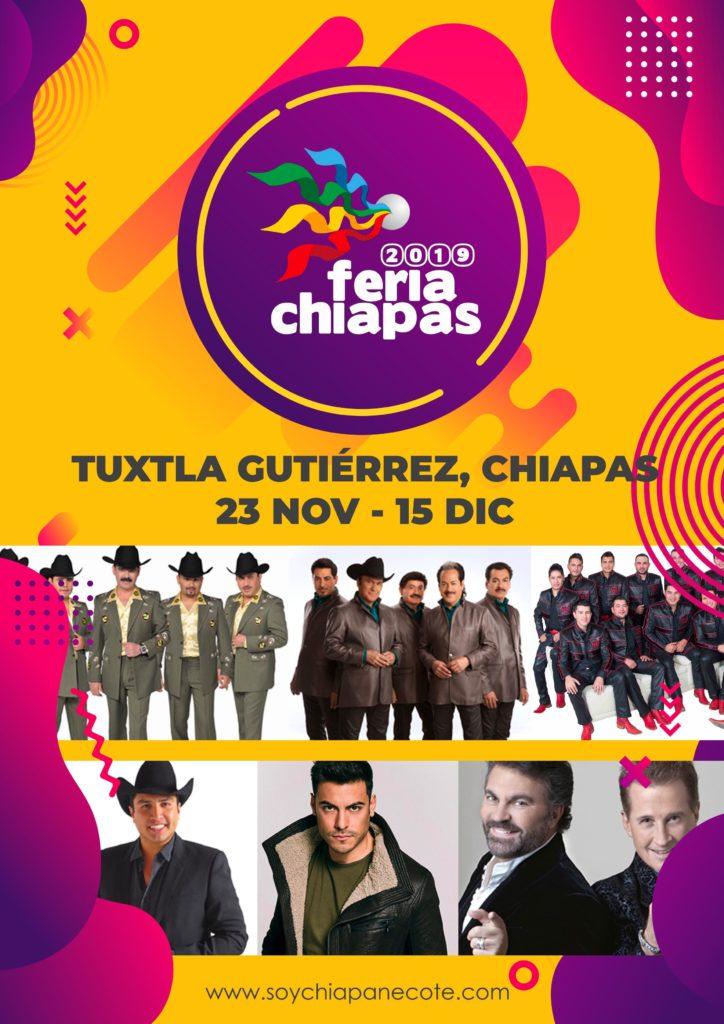 Cartelera Feria Chiapas 2019