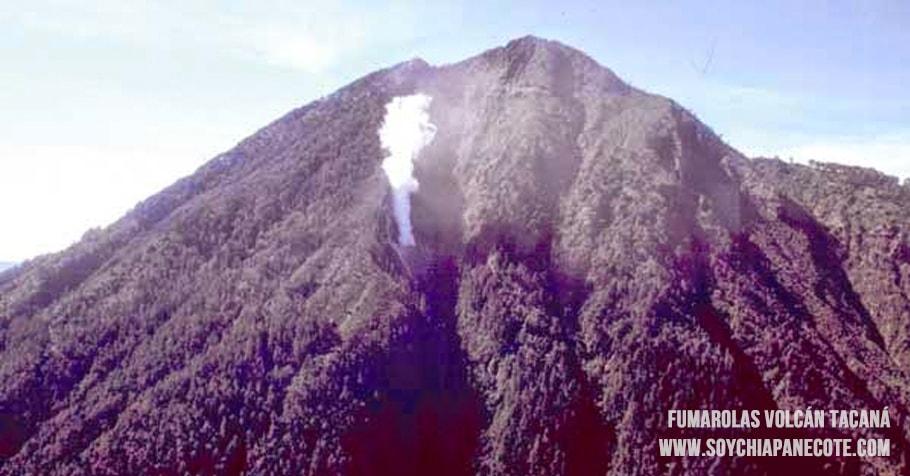 Fumarola en el volcan activo tacaná