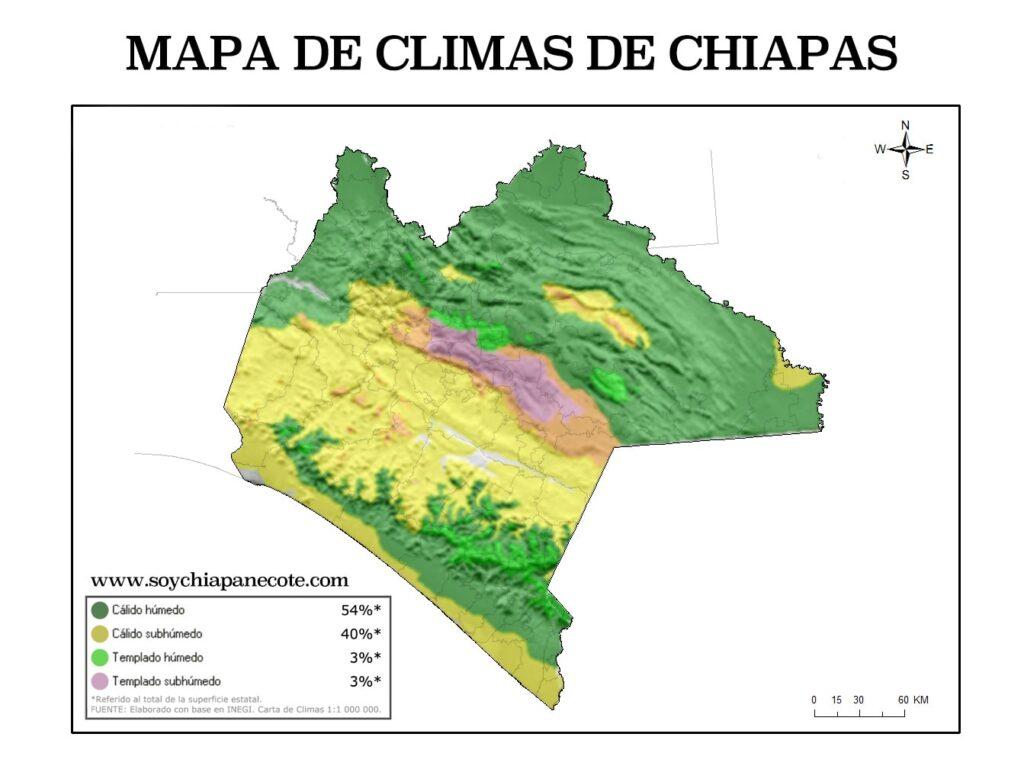 Mapa de Climas de Chiapas