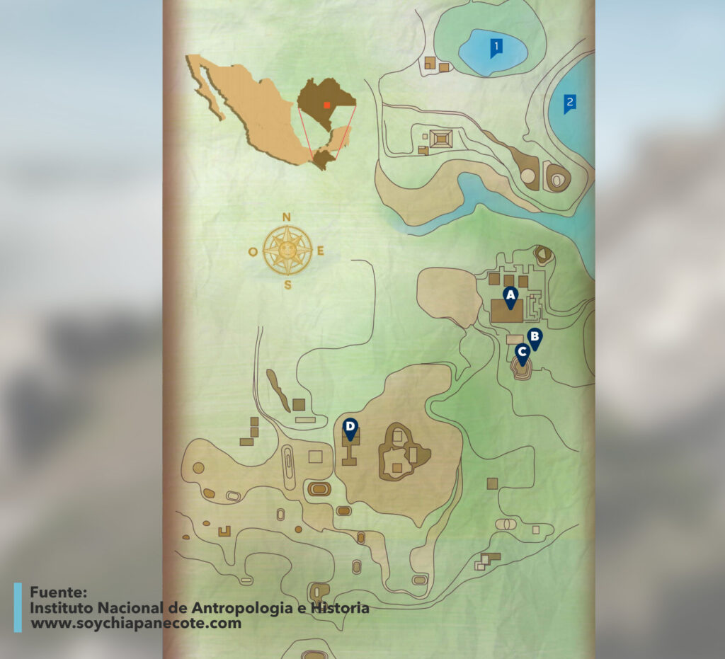 Mapa de Chinkultic, Chiapas